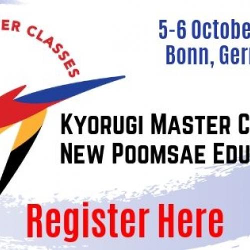 Szkolenie z serii Master Classes - Taekwondo Europe, październik 2019