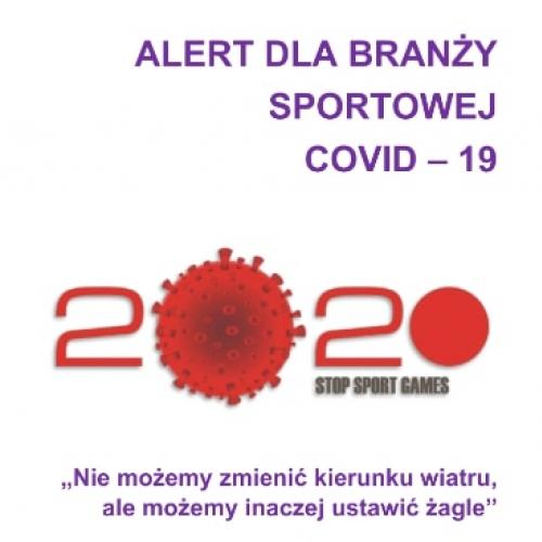 """""""Alert dla branży sportowej Covid-19"""""""